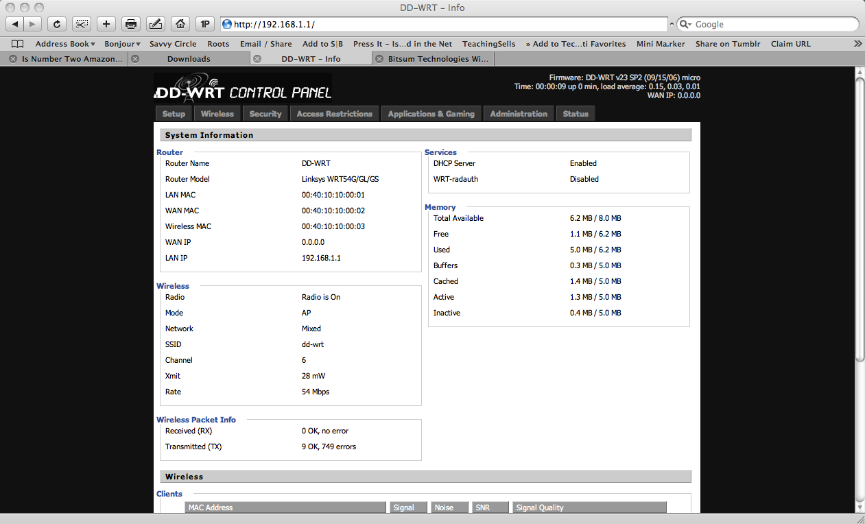 Proposed Home Network and rebuilding the home network, dd wrt on linksys wrt54g