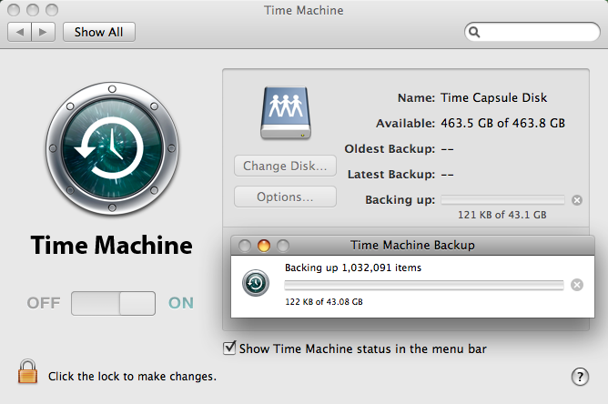Time Machine and Time Capsule Backup Failure finally working