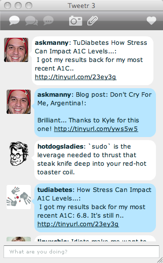 Adobe AIR and twitter, spaz, twhirl, amd tweetr, tweetr twitter client on adobe air on os x