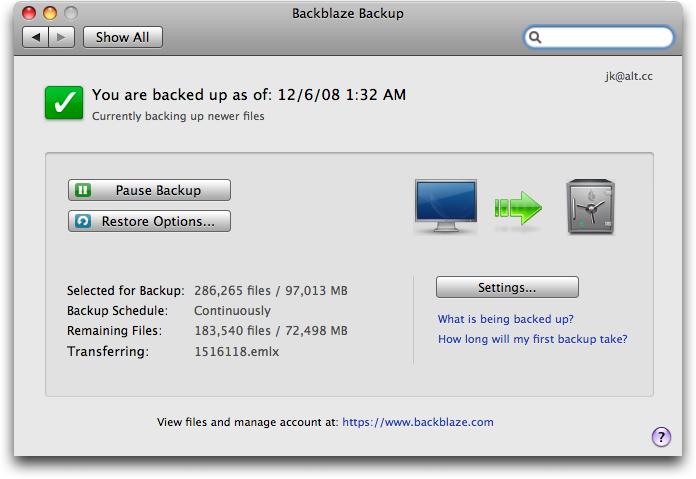 Backblaze: Time Machine for the Cloud backblaze cloud 1