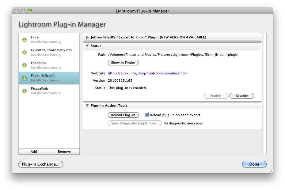 How to export to flickr and Facebook using Adobe Photoshop Lightroom 3 Screen shot 2010 03 22 at 6.51.17 PM