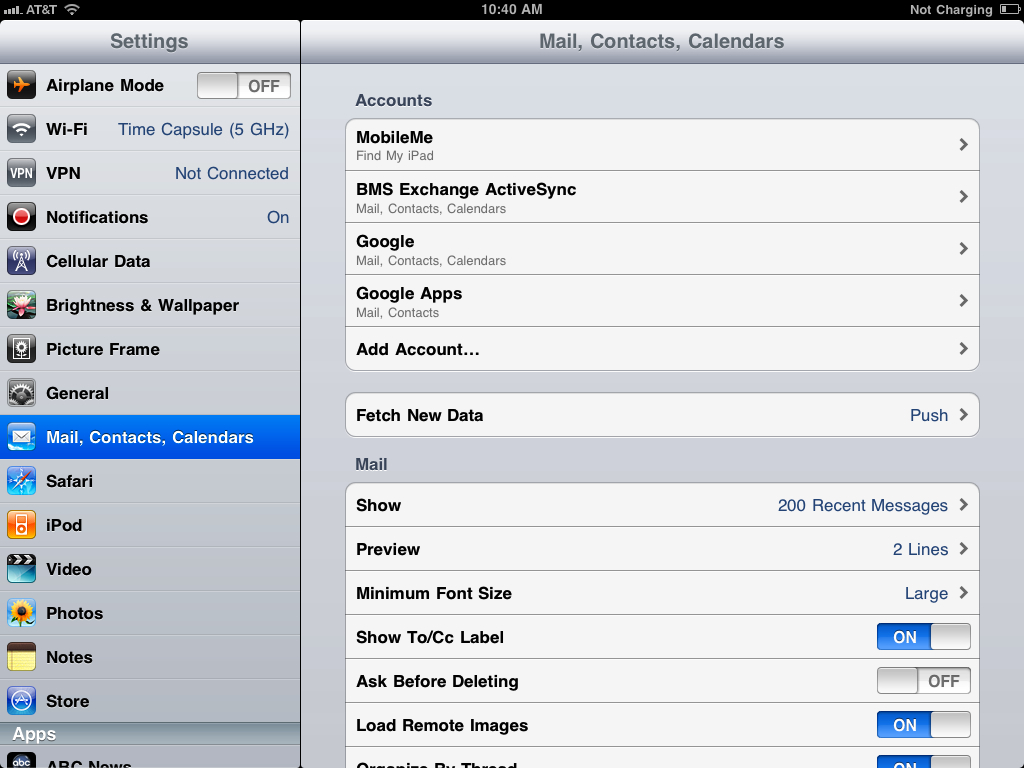 How to sync your iPad Mail, Calendar, & Contacts with Google Sync, Google Sync 7