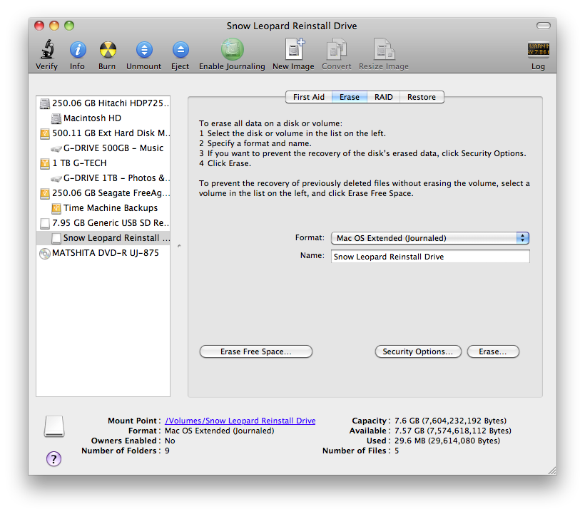 How to create an OS X Snow Leopard Installation on a Flash Drive, Screen shot 2011 02 17 at 5.29.47 PM