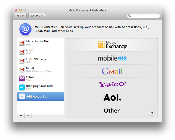 How to setup Mail, Contacts and Calendar on OS X Lion to use an Exchange 2007 account Screen Shot 2011 09 03 at 1.34.30 PM