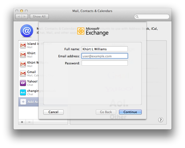How to setup Mail, Contacts and Calendar on OS X Lion to use an Exchange 2007 account Screen Shot 2011 09 03 at 1.34.45 PM