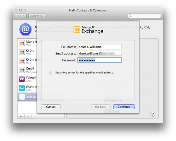 How to setup Mail, Contacts and Calendar on OS X Lion to use an Exchange 2007 account Screen Shot 2011 09 03 at 1.35.42 PM
