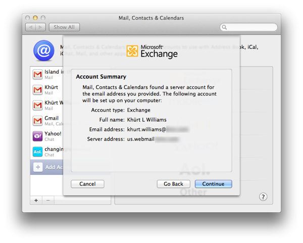 How to setup Mail, Contacts and Calendar on OS X Lion to use an Exchange 2007 account Screen Shot 2011 09 03 at 1.37.23 PM