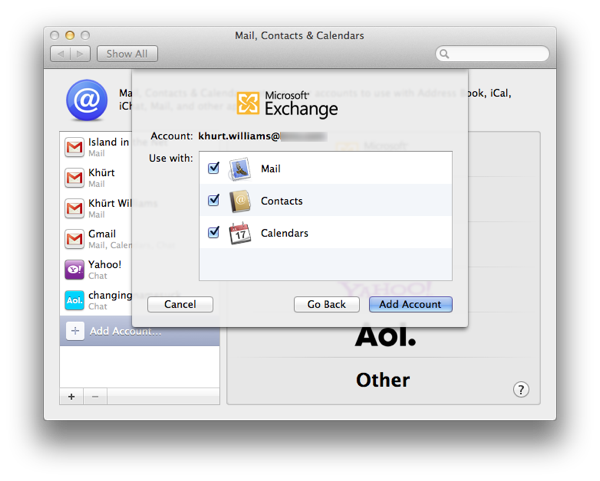 How to setup Mail, Contacts and Calendar on OS X Lion to use an Exchange 2007 account Screen Shot 2011 09 03 at 1.37.34 PM