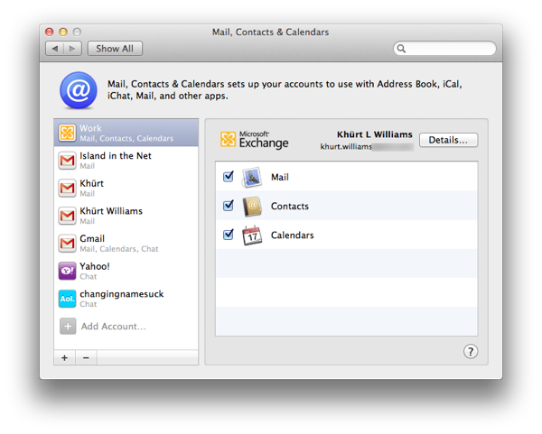 How to setup Mail, Contacts and Calendar on OS X Lion to use an Exchange 2007 account Screen Shot 2011 09 03 at 1.37.58 PM
