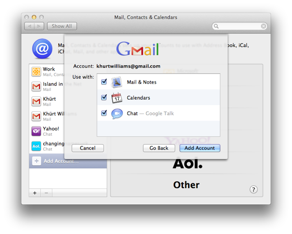 Setup Mail, Address Book and iCal to use Gmail, Google Calendar and Contacts on OS X Lion Screen Shot 2011 09 03 at 10.15.52 AM