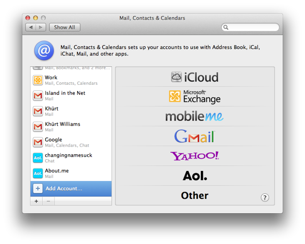 Sync Yahoo Contacts, Calendar, and Mail to your Mac Screen Shot 2011 10 15 at 8.20.32 AM
