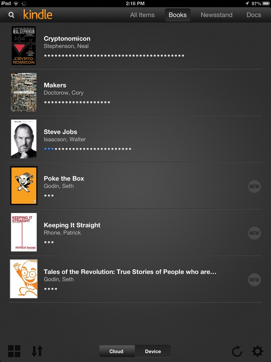 Whats in my eReader?, 20130110 141750