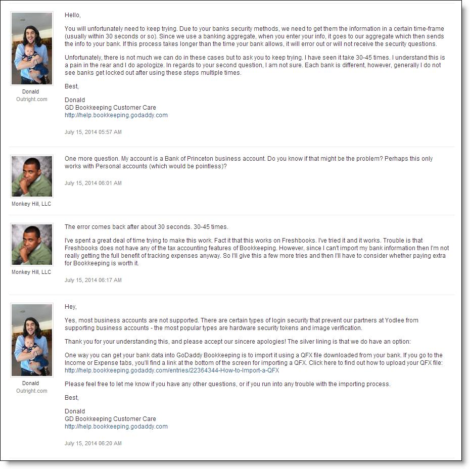 My GoDaddy Bookkeeping Experience, GoDaddy Bookkeeping