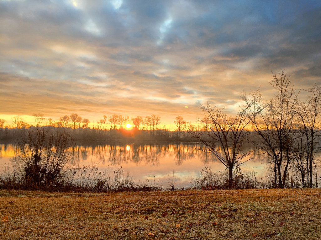 """Carnegie Lake"" Winter Sunrise iPhone"