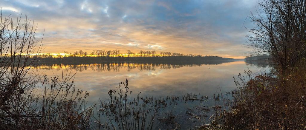 """Carnegie Lake"" Winter Sunrise iPhone Princeton"