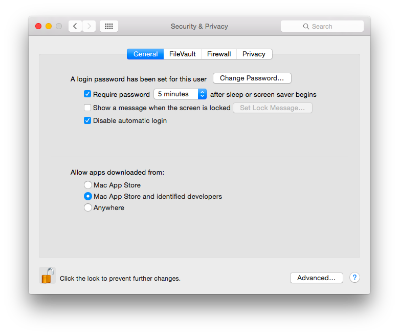How To Setup System Security & Privacy Settings In OS X Screenshot 2014 12 31 14.06.40