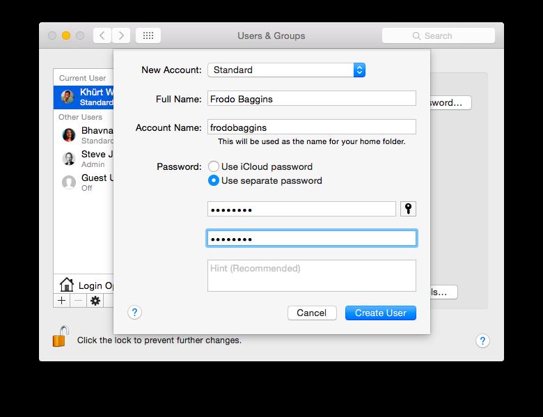 How To Setup A Standard Account In OS X screenshot 2014 12 30 13 42 17