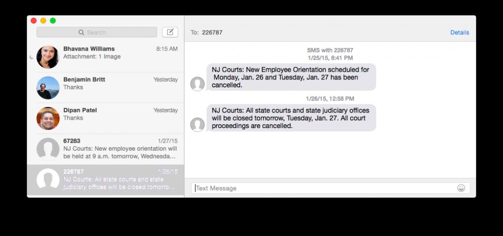messages, os x, screenshot