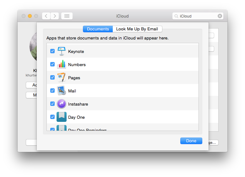 iCloud can sync data from Apple and third-party apps.