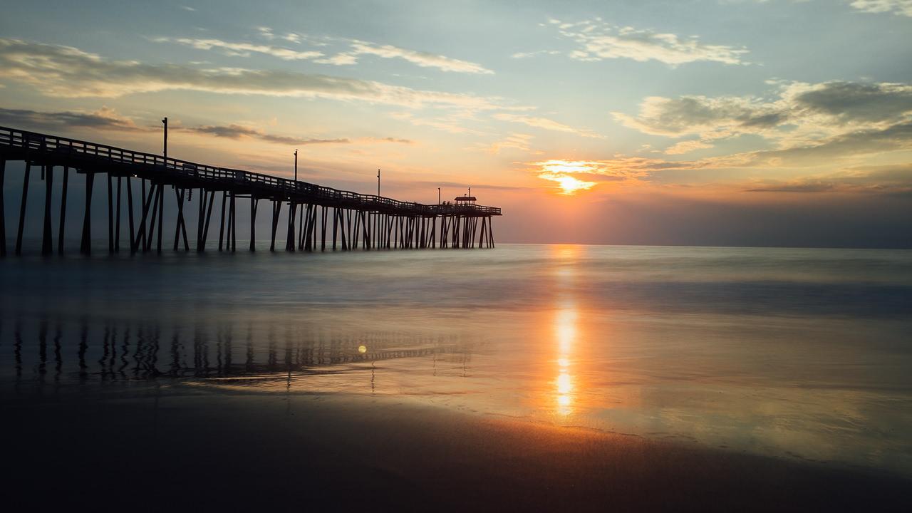 pier, sunrise, rodanthe, salvo, obx