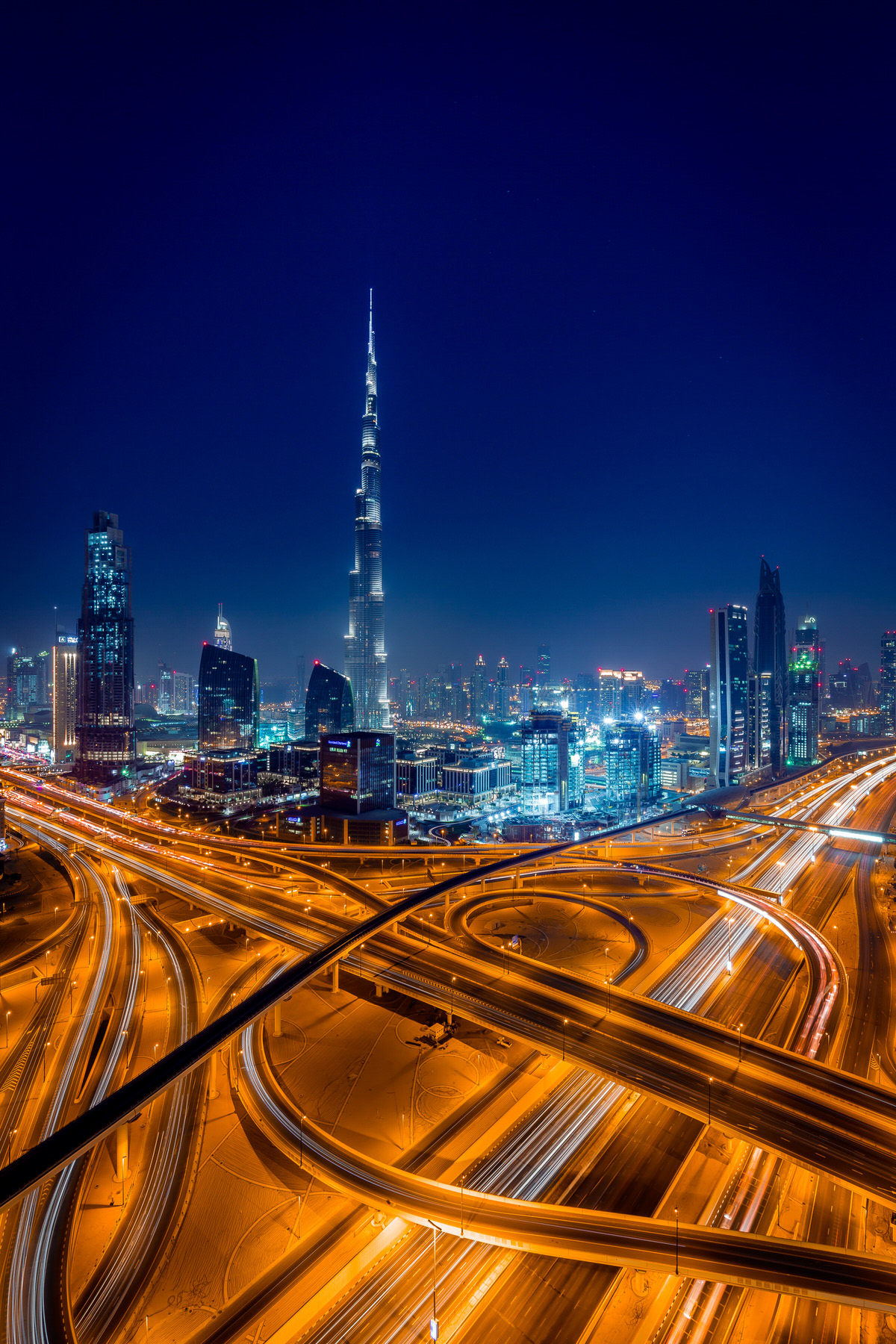 stock photo dubai city lights 127913749