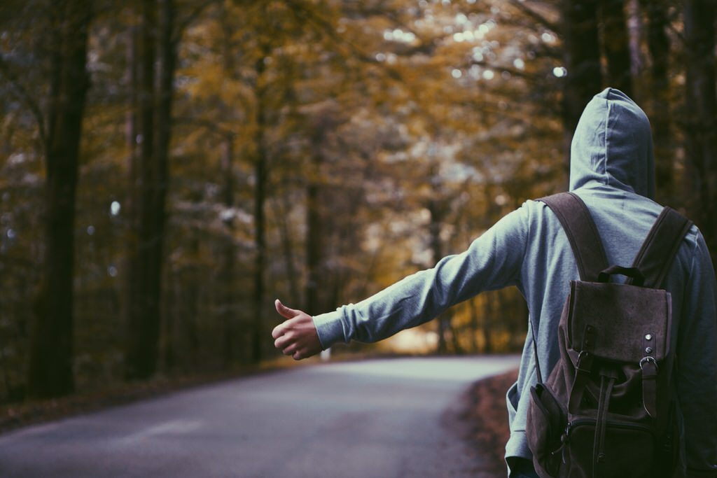 Image by Atlas Green on Unsplash, hitch hiking, adventure