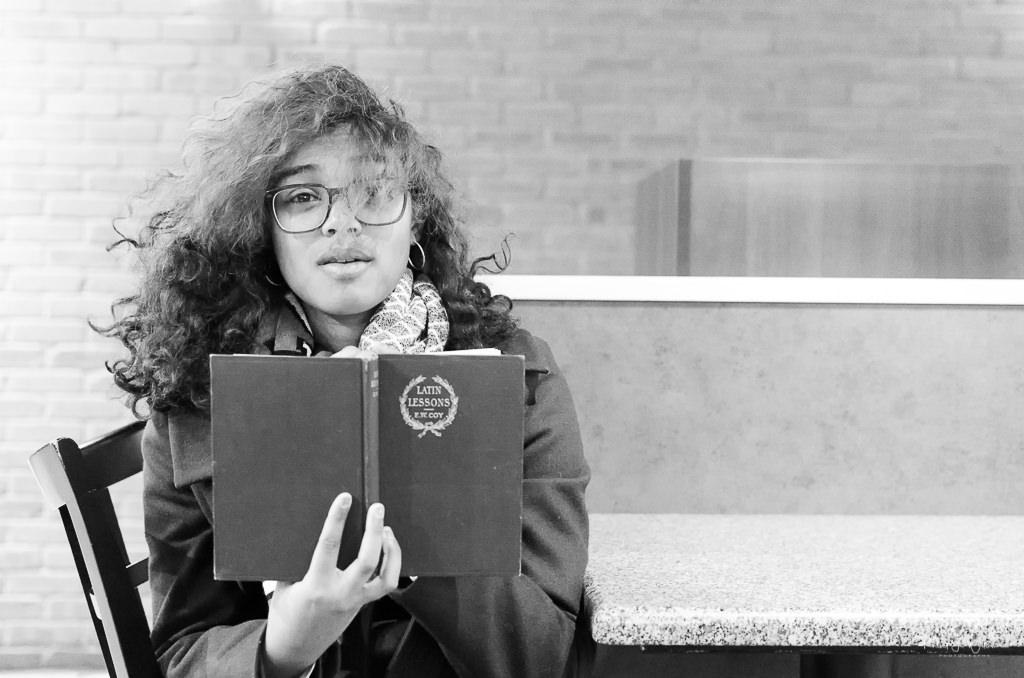 kiran, girl, book, latin