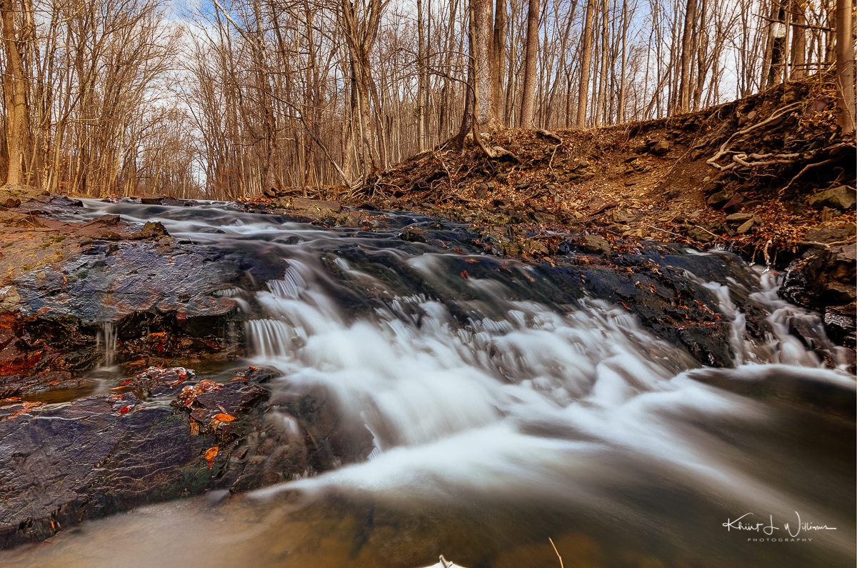Rock Brook,brook, water, trees, winter, rocks