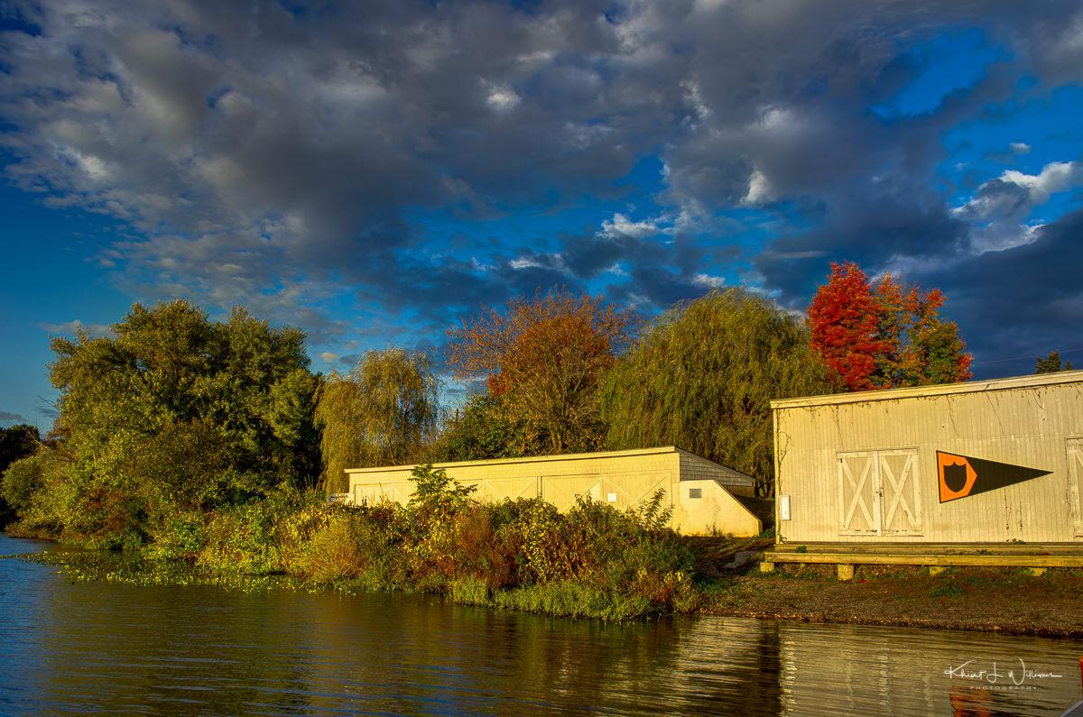Carnegie Lake, water, clouds, sky, lake