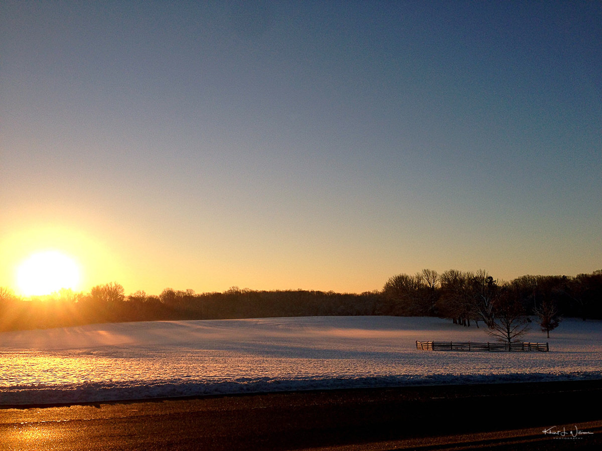 Princeton, Battlefield Park, Sunrise, Winter