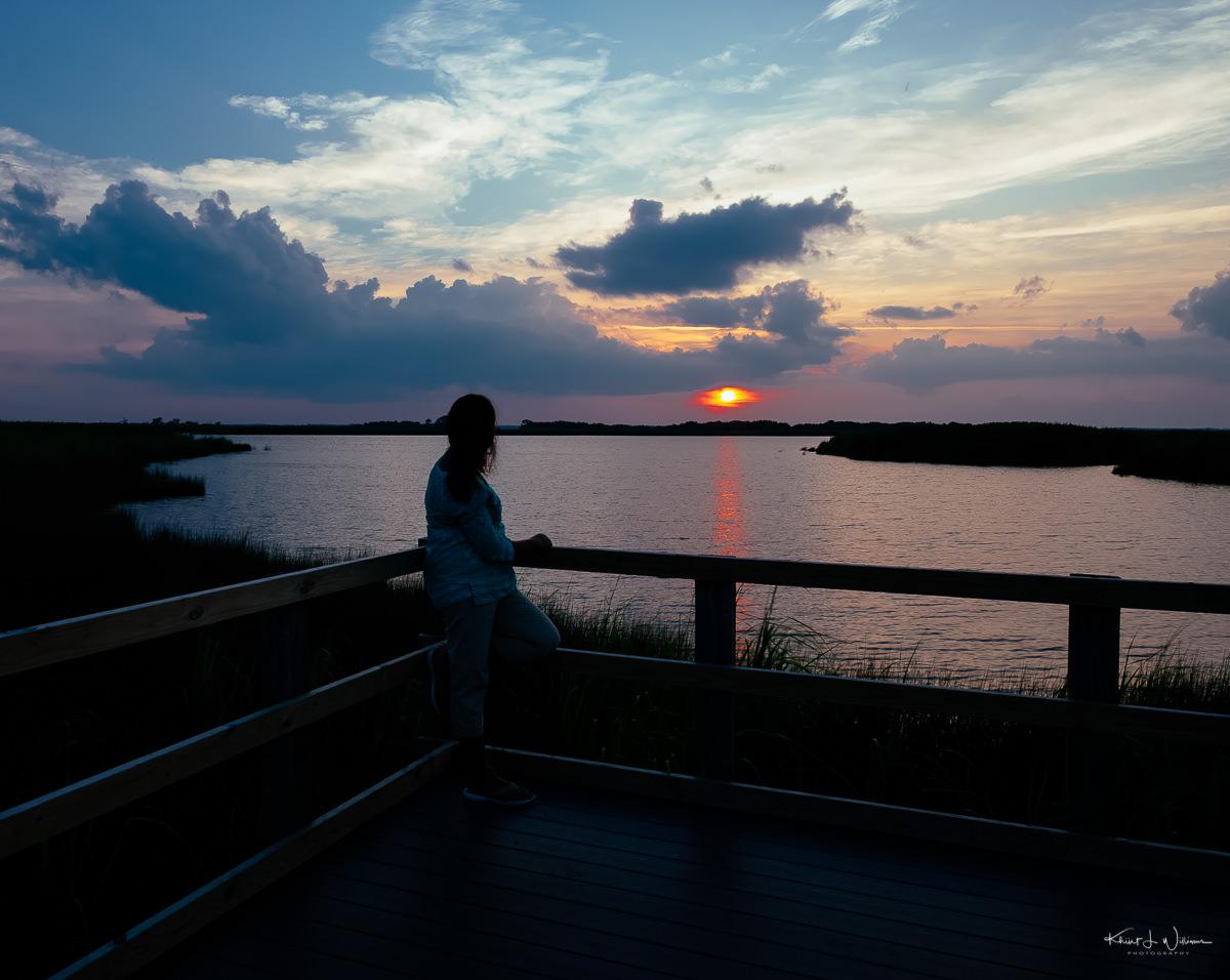 Watching the sunset at Sandbridge NIKON D5100 20130802 489 Edit