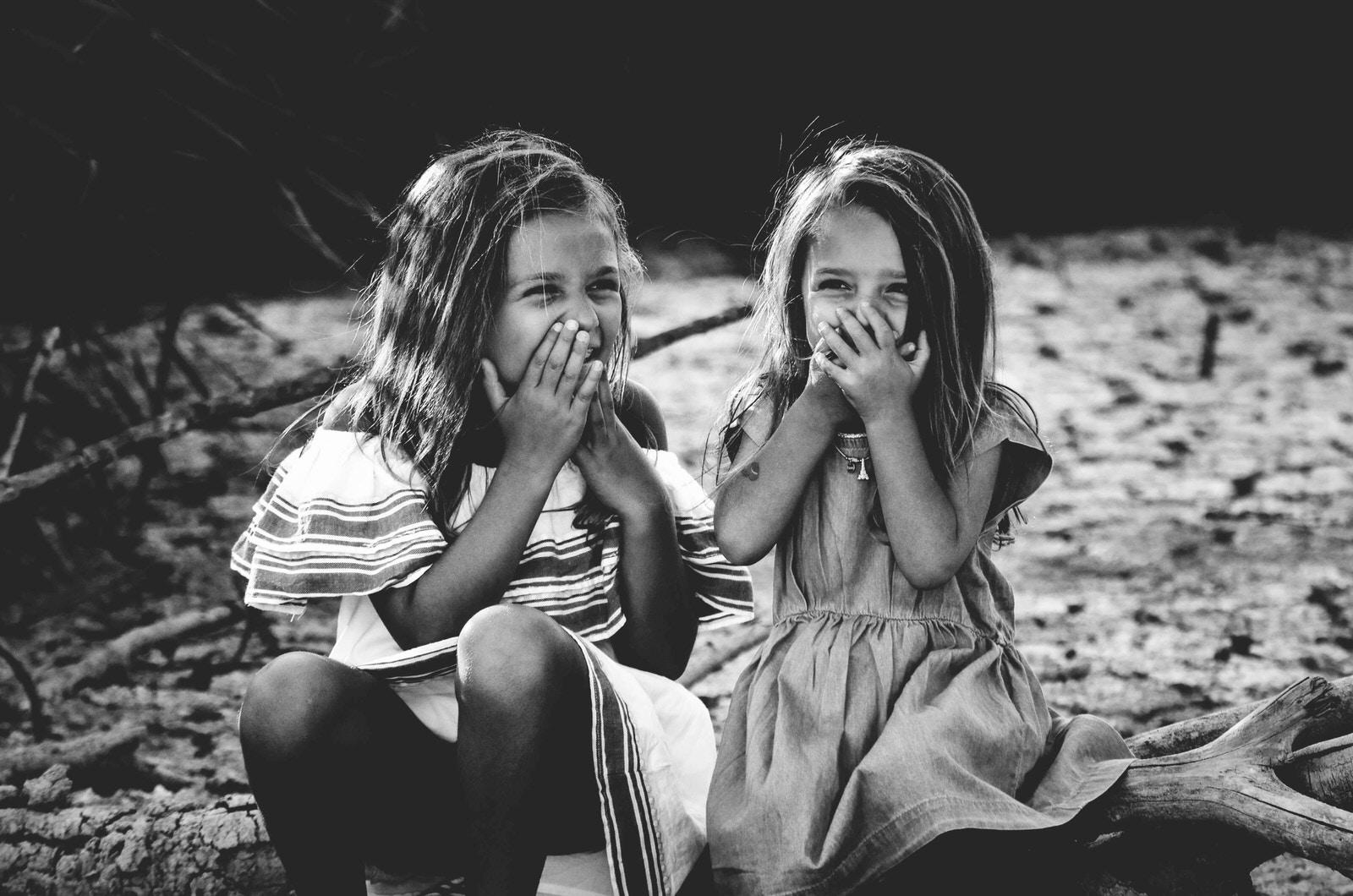 girls, laughing