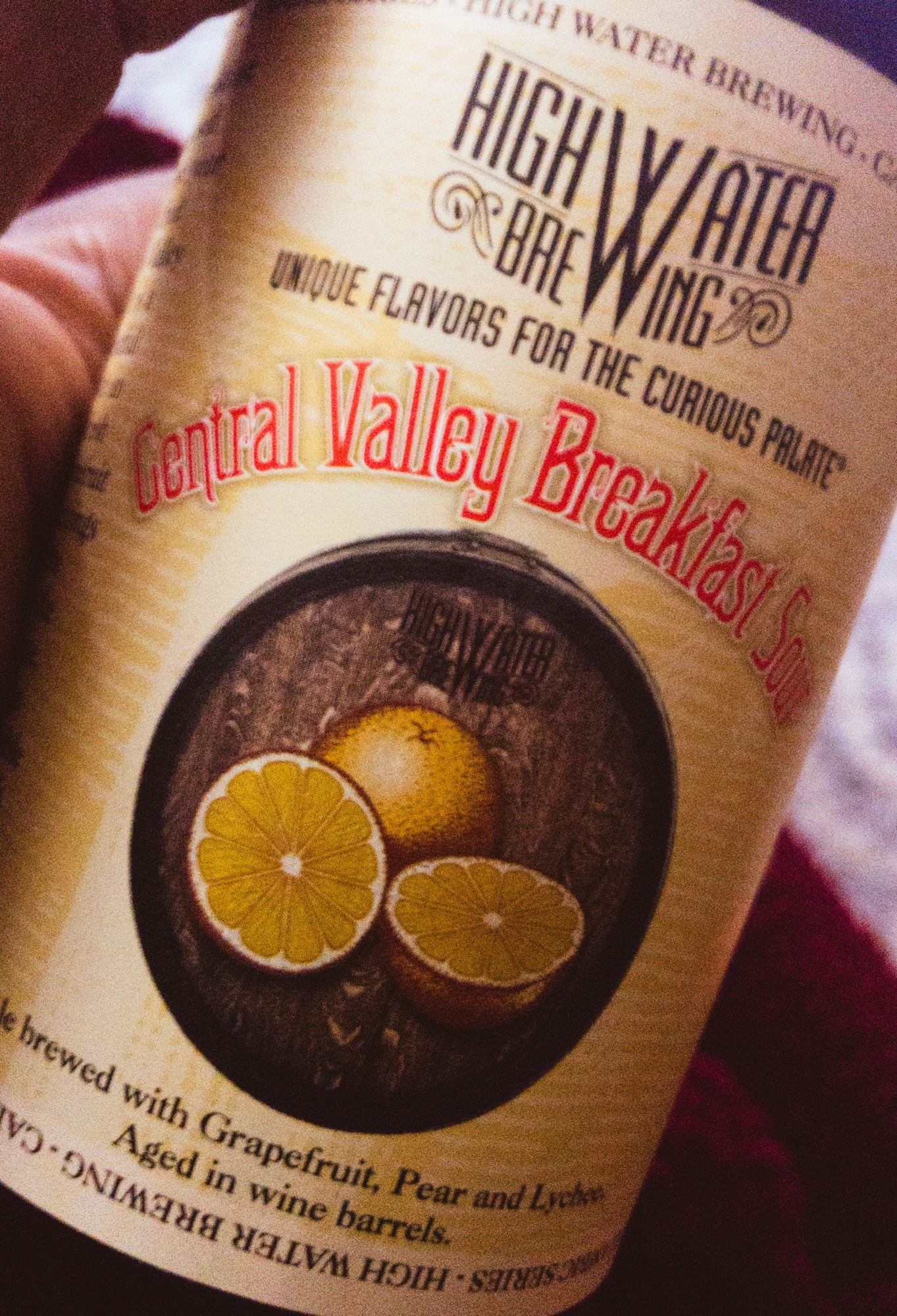 High Water Brewing's Central Valley Breakfast Sour