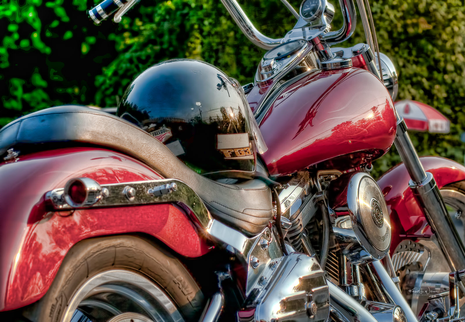 Motorcycle, Red, Princeton, New Jersey