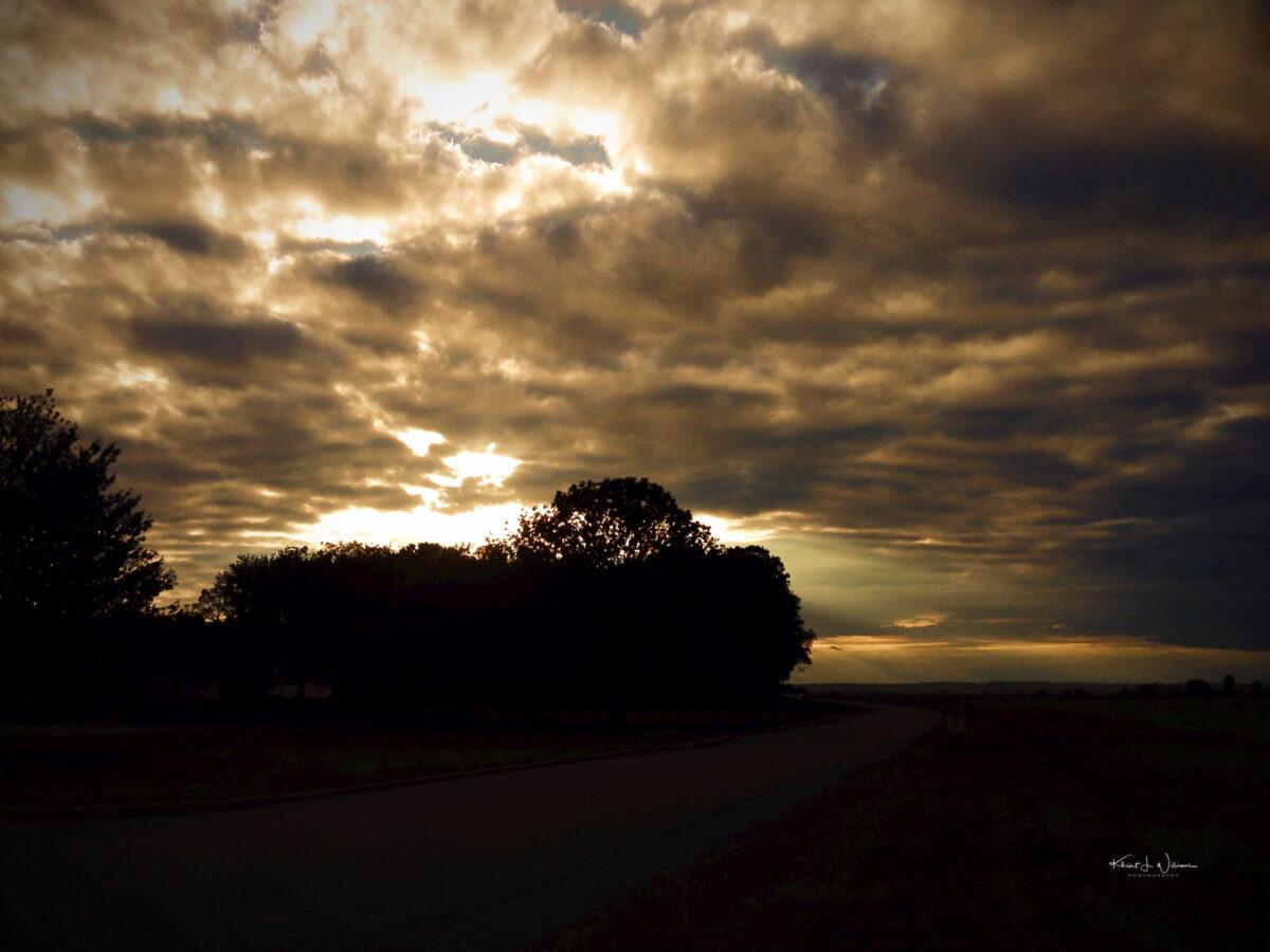 Princeton Airport, Montgomery Township, Sunset