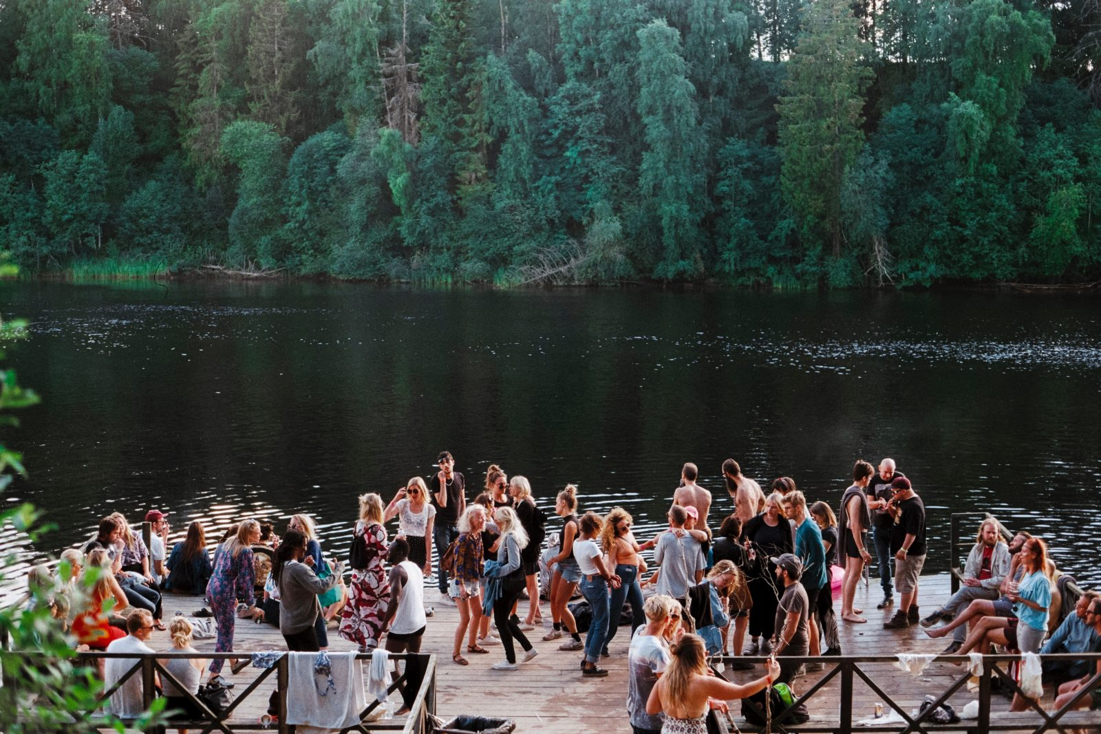 Social, Lake, Sweden, Gagnef, People