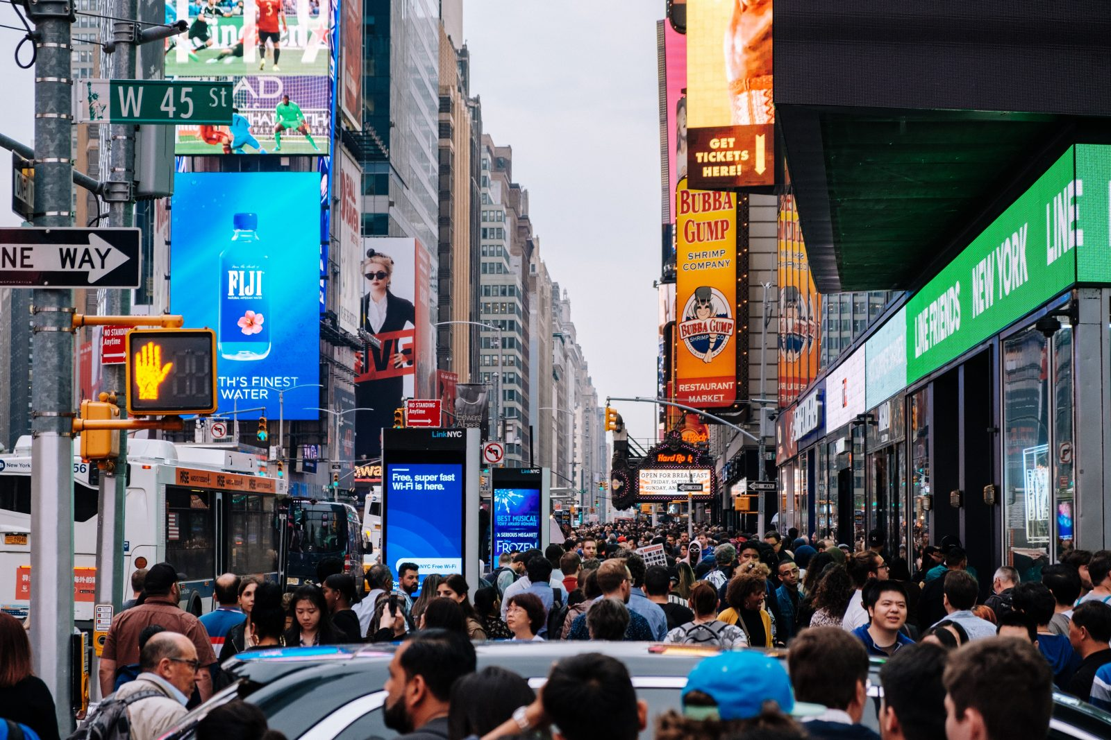 Unsplash, Time Square, Kevin Rajaram, People