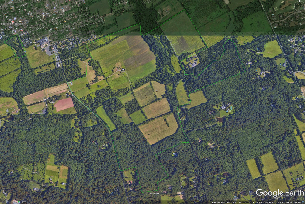 Google Earth, Hopewell Township, St. Michael's Preserve