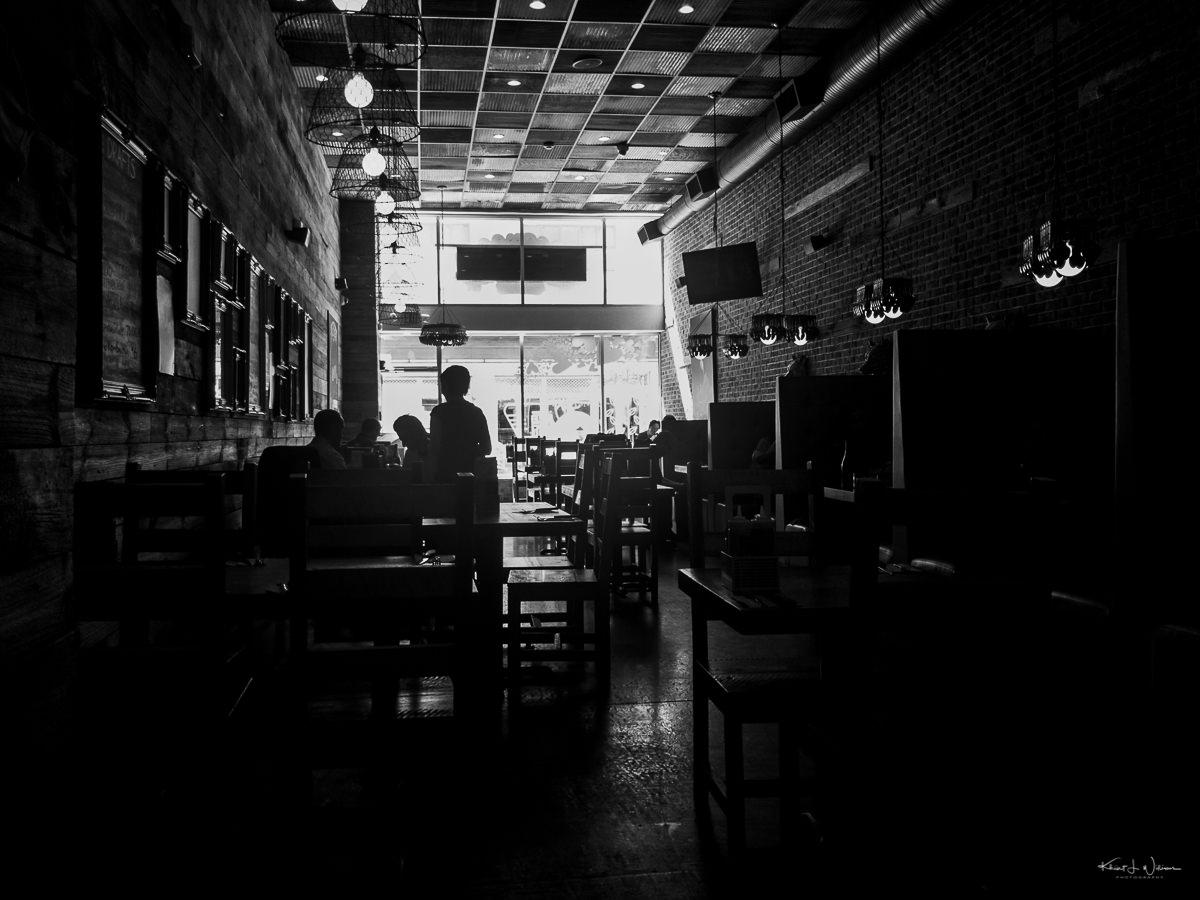 Interior, Restaurant, Silouhette