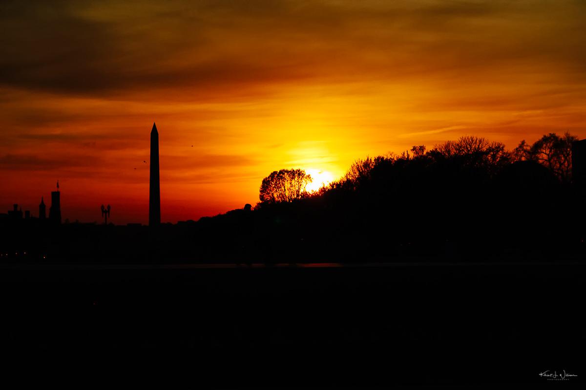 Sky, sunset, Washington D.C.