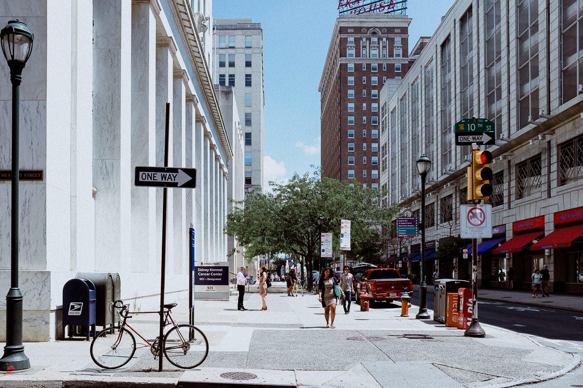 Street, Philadelphia , Chestnut Street, People, Buildings
