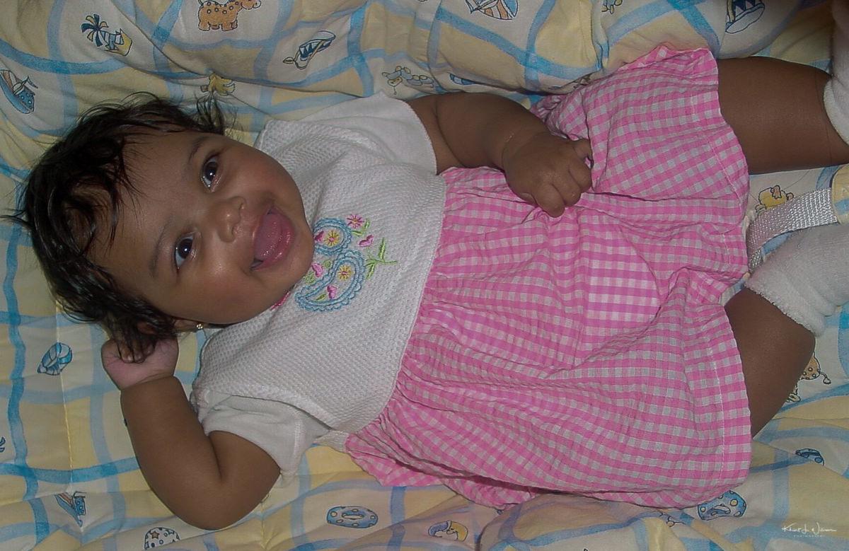 Child, Dress, Pink, Baby