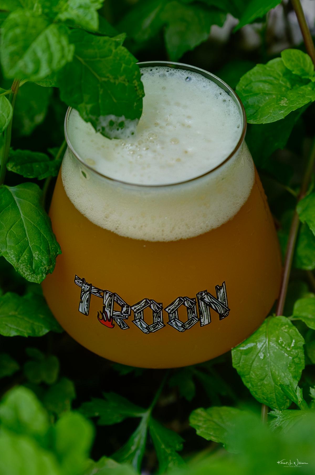Troon, Beer, Craft Ale, Mint, Glass, Teku