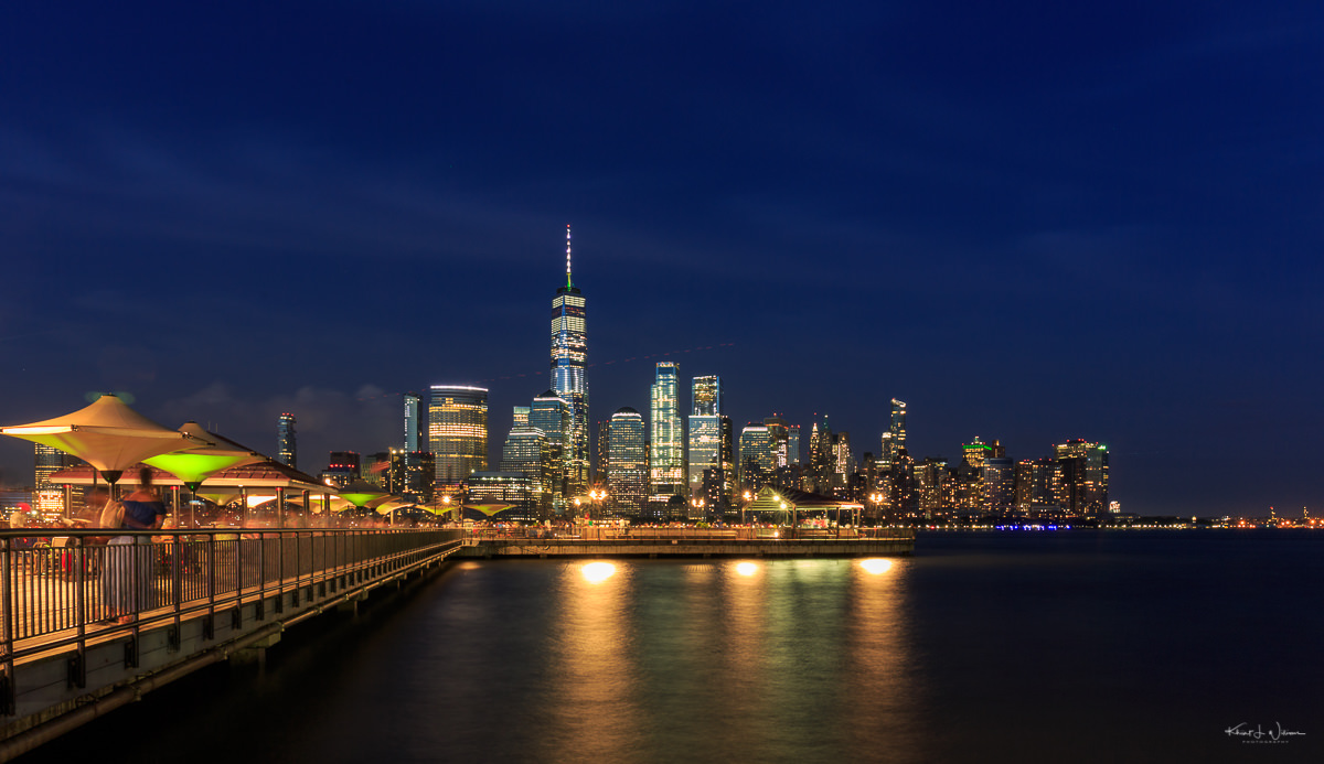 View of lower Manhattan from J. Owen Grundy Park in Jersey City