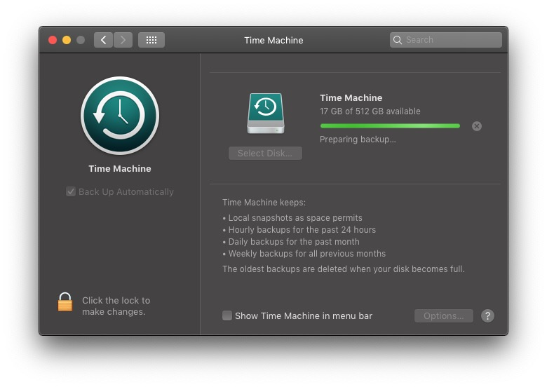 macOS, Time Machine