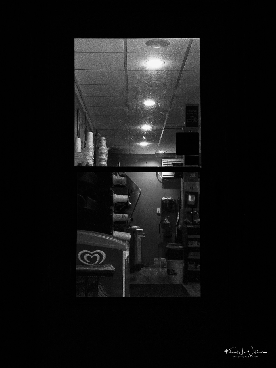 glass door in black and white