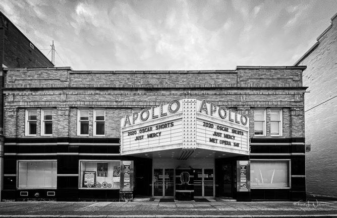 Apollo Theatre front entrance Oberlin Ohio