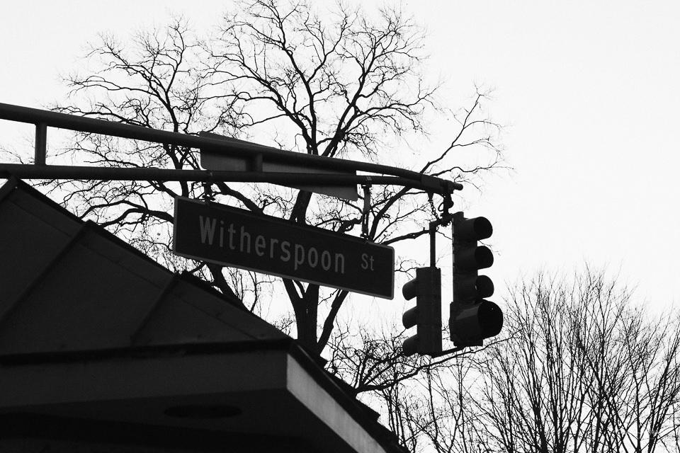 Street Sigh, Street Lights, Witherspoon Street, Princeton