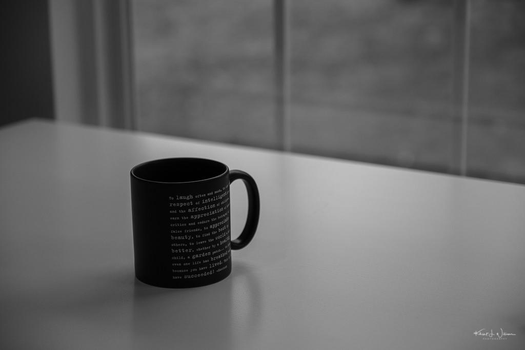 mug on table near window