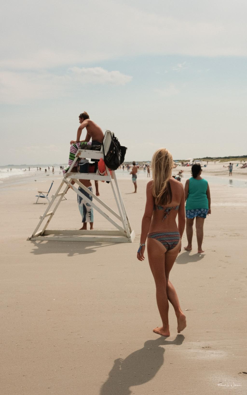 Young Woman Beach Scene